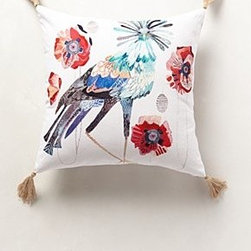 Anthropologie - Peafowl Pillow - *Bottom zip