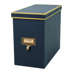 Cargo - Cargo Atheneum File Box - A classy way to eliminate clutter. Now you can store your files and folders in one place with this elegant file box, available in four delightful color combinations. Coordinate with other items from the Cargo Atheneum collection, which all feature an antiqued brass label frame with library-style pull, for the ultimate in stylish organization. No library science degree required.