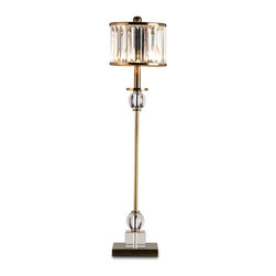 Currey and Company - Parfait Table Lamp - A unique crystal and antique brass table lamp. Definitely a show stopper.
