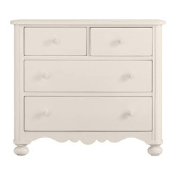 Stanley Furniture - Coastal Living Cottage-Seaside Chest - Simple, classic, elegant - like the sea itself. This streamlined two over two combination chest is as welcome in the main hall as it is in the bedroom. Bun feet and lower trim detail add understated interest.
