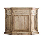 Hooker Furniture - Hooker Furniture Wakefield Three-Door Three-Drawer Buffet in Taupe - Hooker Furniture - Buffet Tables and Sideboards - 500475900