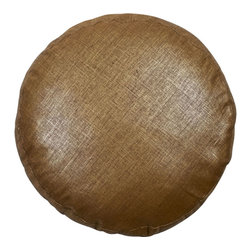 "Mystic Valley - Mystic Valley Traders Radiance Copper - 18"" Pancake Pillow - The Radiance Copper 18"" Pancake pillow is fashioned from the Glimmer Copper fabric on each side, and finished with a clean edge; 18"" diameter."