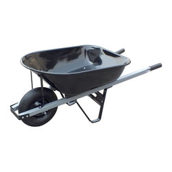 United General Supply - United General Tray Wheelbarrow, 6 Cubic ft, 20 Gallon, Steel (WH89693) - United General WH89693 Tray Wheelbarrow, 6 Cubic ft, 20 Gal, Steel