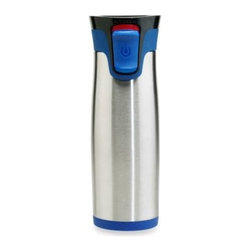Ignite Usa, Llc - Contigo Autoseal Aria Stainless Steel 16-Ounce Travel Mug in Blue - This sleek Aria Travel Mug features Autoseal technology for 100% spill and leak-proof performance with vacuum insulation to keep your beverages hot for up to 5 hours or cold for 14 hours.