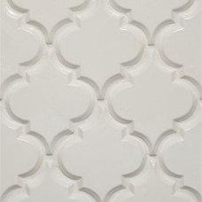 Beveled Arabesque- Ivory Kitchen Backsplash Tile
