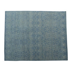 1800-Get-A-Rug - Modern Oriental Rug Hand Knotted Rug Sky Blue Color Sh10314 - About Modern & Contemporary
