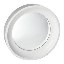 Convex Mirror, White - I love this white convex mirror from West Elm. It'd be great in the middle of a gallery wall with white frames.