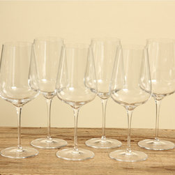 Luigi Bormioli - Luigi Bormioli Intenso 25-ounce wine glasses (Set of 6) - Manufactured with Italian craftsmanship,Luigi Bormioli's blown crystal glass provides you with the elegance and practicality that you deserve. These glasses are dishwasher safe yet beautiful enough for all of your entertainment needs.