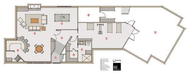 Eclectic Floor Plan by udvari-solner design company