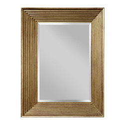 """Murray Feiss - Murray Feiss MR1134 Stepped 40.25"""" Height x 30.25"""" Width Clear Retangular Mirror - Murray Feiss MR1134 Stepped 40.25"""" Height x 30.25"""" Width Clear Retangular MirrorForty inches in height, this clear glass rectangular wall mirror adds luxury to any room. With its traditional decor, this rectangular shaped mirror from the Stepped Collection is distinct and eye-catching. Hanging hardware included and affixed to the frame enabling mirror to be hung horizontally or vertically.Murray Feiss MR1134 Features:"""