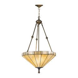 Dale Tiffany - Dale Tiffany 8642/3LTJ Umbrella Filigree Hanging Fixture - Shade: Hand Rolled Art Glass
