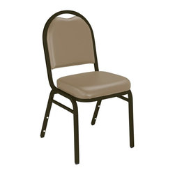 National Public Seating - Dome Back Banquet Staking Chair - Set of 10 w - Free Dolly with Purchase!. Set of 10. 2 in. thick grade A foam. Double stitched cushion with specious waterfall seat. Back has convenient handhold for easier moving and stacking. Superior frame strength with underseat and H brace. Stacking bars and 12 plastic stack bumpers ensure securely without damaging alternative powder coated finish. Meets ANSI and BIFMA standards. Steel contains 30-40% of post-consumer waste (recycled). Warranty: Five years for material. Made from 0.86 in. thick 18-gauge square tube steel frame. 16 in. W x 16 in. D x 34 in. H
