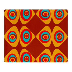 Crash Pad Designs - Fleece Throw Blanket, Soft Sofa Blanket by Crash Pad Designs, Red and Brown, L - Snuggle up with our new incredibly plush fleece blankets.