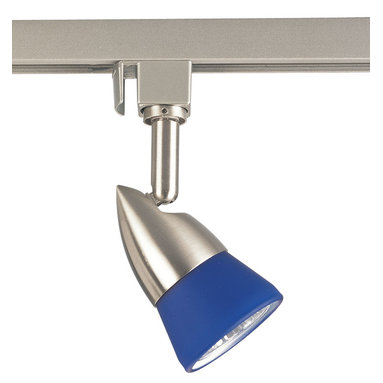 Track Lighting - 120V line voltage track head with blue glass