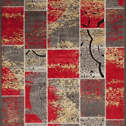"Momeni - Momeni Vogue VG-01 (Red) 5' x 7'6"" Rug - This Machine Made rug would make a great addition to any room in the house. The plush feel and durability of this rug will make it a must for your home. Free Shipping - Quick Delivery - Satisfaction Guaranteed"