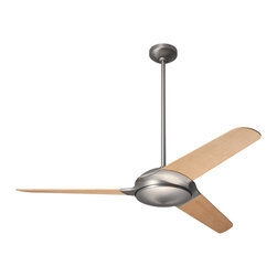 "Modern Fan Company - Modern Fan Company Flow Matte Nickel 52"" Ceiling Fan + Wall Control - Features:"