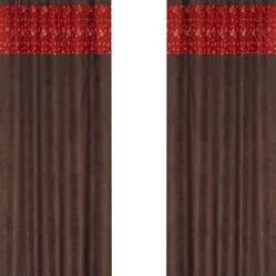 "Sweet Jojo Designs - Wild West Chocolate Window Panels (Set of 2) - Create a stylish look for your child's room with the Wild West Chocolate Window Panels (Set of 2).  This set features 2 Window Panels that are 42"" x 84"" each."