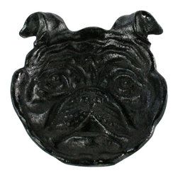 HomArt - Cast Iron Dog Face Dish - Style meets function in the Cast Iron Dog Face Dish. Made from black cast iron, this unique dish makes a charming addition to your rustic kitchen decor. Use it for cooking or displaying fruit or desserts.