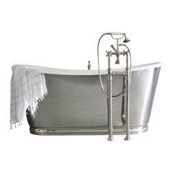 "Penhaglion - 'The Lindisfarne' 68"" Long Cast Iron Bathtub Package from Penhaglion - Product Details"
