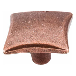 Top Knobs - Top Knobs: Square Knob 1 1/4 Inch - Old English Copper - Top Knobs: Square Knob 1 1/4 Inch - Old English Copper
