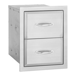 Summerset - Alturi Double Drawer - #304 Stainless Steel Construction