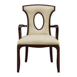 Sterling Lighting - Sterling Lighting Bailey Street Blakemore Arm Chair - An elegant chair finished in espresso with ecru linen.