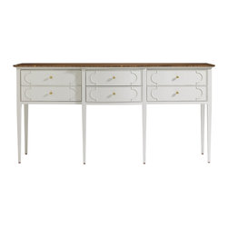 Stanley Furniture - Charleston Regency Drayton Sideboard - Organize your home with the Drayton Sideboard that features six slim drawer to allow maximum storage. It is forged with simple looking brass knobs. It will offer essential storage space where you can keep your everyday essentials without cluttering your space with such knick-knacks.