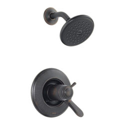 Delta - Delta T17T238-RB Lahara TempAssure 17T Series Shower Trim (Venetian Bronze) - With a touch of sophistication and grace on a classic style, the Lahara series brings a high-arched contemporary look to your home.