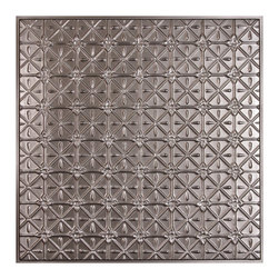 """Continental Ceiling Tile - Faux Pewter - Perfect for both commercial and residential applications, these tiles are made from thick .03"""" vinyl plastic. Their lightweight yet durable construction make these tiles easy to install. Waterproof, these tiles are washable and won't stain due to humidity or mildew. A perfect choice for anyone wanting to add that designer touch at an amazing price."""