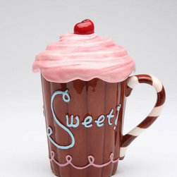 "ATD - 5.75 Inch ""Life is Sweet"" Chocolate Brown Mug with Pink Frosting Lid - This gorgeous 5.75 Inch ""Life is Sweet"" Chocolate Brown Mug with Pink Frosting Lid has the finest details and highest quality you will find anywhere! 5.75 Inch ""Life is Sweet"" Chocolate Brown Mug with Pink Frosting Lid is truly remarkable."