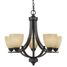 Chandeliers 5-light English Bronze Transitional Chandelier