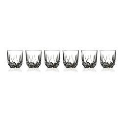None - RCR Crystal Trix Collection Double Old Fashion Glasses (Set of 6) - Sip in style with these double old-fashioned glasses from RCR Crystal. Made in Tuscany, rest assured that your drinking glasses are the perfect mix of beautiful Italian design and quality. These glasses are dishwasher-safe for convenience.