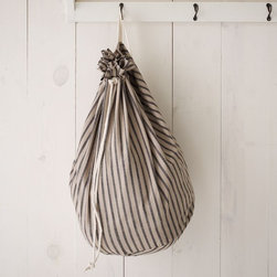 Cotton Laundry Bag, Chef's Stripe - This little gem of a bag is not only perfect for keeping laundry tucked away, but also great to use in an entryway for organization. It's even a great way to hide all those ugly plastic bags we all like to reuse.