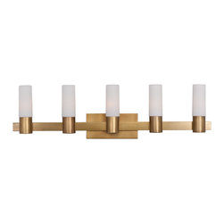 Maxim Lighting - Maxim Lighting 22415SWNAB Contessa Natural Aged Brass 5 Light Vanity - 5 Bulbs, Bulb Type: 40 Watt Incandescent