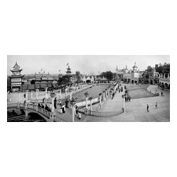 Luna Park, Pittsburgh, Pa. Print - Luna Park, Pittsburgh, Pa. Photographed by the Detroit Publishing Co. on 8x10 glass plate negatives around 1905.