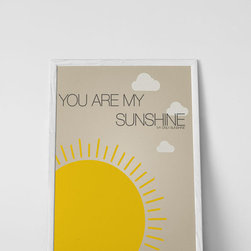 Nursery Code - You Are My Sunshine- Nursery Art Print, 20x24 - You are my sunshine, my only sunshine-- nursery art print.