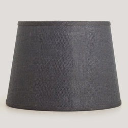 Gray Burlap Table Lampshade - Replace your lampshades with these gorgeous gray burlap shades to create a warm glow in your space.