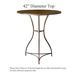 Savoy Counter Height Table with 42in. Diameter Top by Charleston Forge - Dimensions: (diameter x height)