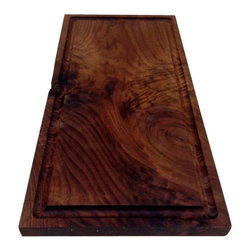 Sean Alan Designs - The Channel Platter - Solid walnut platter/cutting board with juice trap.