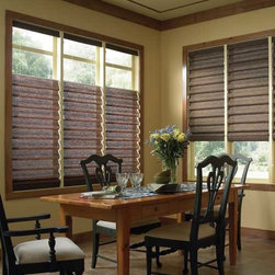 Comfortex - Comfortex Envision Roman Shades: Polynesian Sands - Polynesian Sands fabric has the natural look of a woven wood shade.  Bring sophisticated warmth and style to your windows with the beauty of Comfortex Envision Roman Shades.