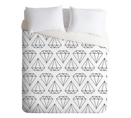 DENY Designs - Wesley Bird Diamond Print 2 Duvet Cover - Turn your basic, boring down comforter into the super stylish focal point of your bedroom. Our Luxe Duvet is made from a heavy-weight luxurious woven polyester with a 50% cotton/50% polyester cream bottom. It also includes a hidden zipper with interior corner ties to secure your comforter. it's comfy, fade-resistant, and custom printed for each and every customer.