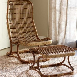 Bruges Chair - There's something about wicker and cane chairs that spells adventure! Maybe it's the connotations of tropical climates and sun-baked porches. But adding a chair like this to a living room will instantly create a laid-back, global vibe.