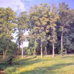 """Ivan Ivanovich Shishkin Grove near pond - 16"""" x 24"""" Premium Archival Print - 16"""" x 24"""" Ivan Ivanovich Shishkin Grove near pond premium archival print reproduced to meet museum quality standards. Our museum quality archival prints are produced using high-precision print technology for a more accurate reproduction printed on high quality, heavyweight matte presentation paper with fade-resistant, archival inks. Our progressive business model allows us to offer works of art to you at the best wholesale pricing, significantly less than art gallery prices, affordable to all. This line of artwork is produced with extra white border space (if you choose to have it framed, for your framer to work with to frame properly or utilize a larger mat and/or frame).  We present a comprehensive collection of exceptional art reproductions byIvan Ivanovich Shishkin."""