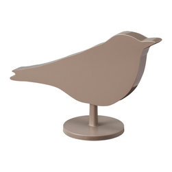 IDEA International - Bird Clock - Light Brown - Have you ever thought what it would be like to wake up and never see an Alarm Clock? This Bird Alarm Clock was designed to help you start your day refreshed and woken by birdsong to tell you the time. The bird shaped body will never remind you of an old fashioned alarm clock again.