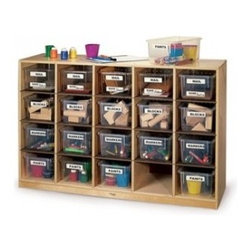 Whitney Brothers - Cubby Storage Cabinet with Tote-Trays WB3251 - Cubby Storage Cabinet with Tote-Trays