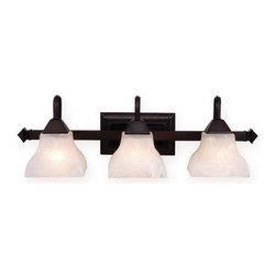 Vaxcel Lighting - Vaxcel Lighting VL26303 Cardiff 3 Light Vanity Light - Features: