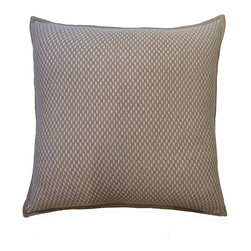 Rani Arabella - Rani Arabella Brown Duke Cashmere Blend Pillow, Ivory - Add a simple, elegant print to your living or dining room with the 21-by-21 inch Duke Cashmere Blend Pillow. Made from 70% cashmere and 30% wool, this pillow features banded edges and an ivory and taupe weave pattern. Pair it with similar neutral colors for a cohesive look. Includes a 50% down and 50% polyester insert. Dry clean only. Made in Italy.