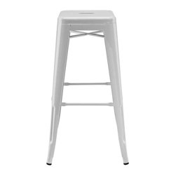 Modway - Gathering Bar Stool in Gray - Together we can accomplish what each of us alone cannot. Gathering reminds us of our collective surge of ambition to solve individual disorder. From its electric-plated metal finish, to its overall fluid notion of design, Gathering is not something you can simply present as is. While today's world of commercialism likes to pigeonhole products by category, Gathering is a unique stool that defies classification.