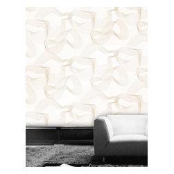 Tres Tintas - Ondas Wallpaper, 5- Gold on White - Vanilla wood is one of the few exclusive dealers of Tress Tintas wallpaper.