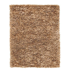Anji Mountain - Mocha Paper Shag Rug - 4' x 6' - Ethereal, Cumulonimbus cloud-like puffs of unbelievably soft fabric invite bare foot days and nights while maintaining a refined, contemporary disposition. This marvelous balance of comfort and style presents an array of dazzling applications throughout the home. This rug also makes a compelling sustainability statement with its inventive use of recycled paper in its pile.